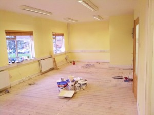 work in progress Fitnecise Studio Personal Fitness Training Room in south Dublin Chruchtown October  2012