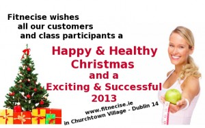 Happy Christmas to our Pilates Class Customers in our South Dublin Studios