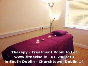 Therapy Treatment Room available to rent, to let, for hire in South Dublin Churchtown, close to Dundrum Rathfarnham Ballinteer Rathmines Templeogue Nutgrove