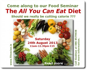 24th August 2013 Diet Food and Nutrition Seminar - Talk with Siobhan O'Reilly Fitnecise Studio Churchtown South Dublin