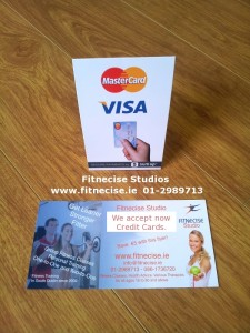 You can now pay for our Fitness and Exercise Classes with Credit Cards e.g. VISA Card or Master Card
