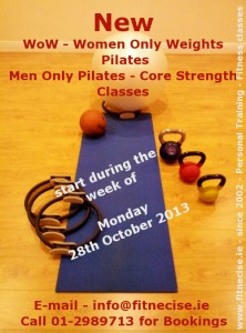 various Fitness and Pilates Classes in South dublin D14 D16 close to D12 in Churchtown close to Dundrum Rathmines Rathgar Templeogue Nutgrove Area start late October, early November 2013
