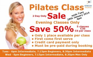 2 Day Pilates Deal Special Offer - Price Give-a-way in January February 2014 in South Dublin Churchtown Dublin 14 Dublin 16 close to Rathfarnham, Marlay Park, Dundrum, Rathmines, Rathgar, Ballinteer, Nutgrove, Sandyford