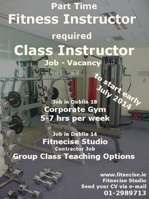 Fitness Instructor Job, Vacancy, Position in South Dublin ...