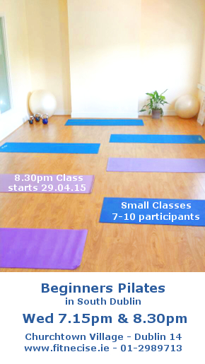 April / May Pilates Classes in South Dublin, Churchtown Dublin 14 close to Marlay Park, Rathfarnham, Rathmines, Dundrum Fitnecise Studio with Martin, Veronika and Dagmara