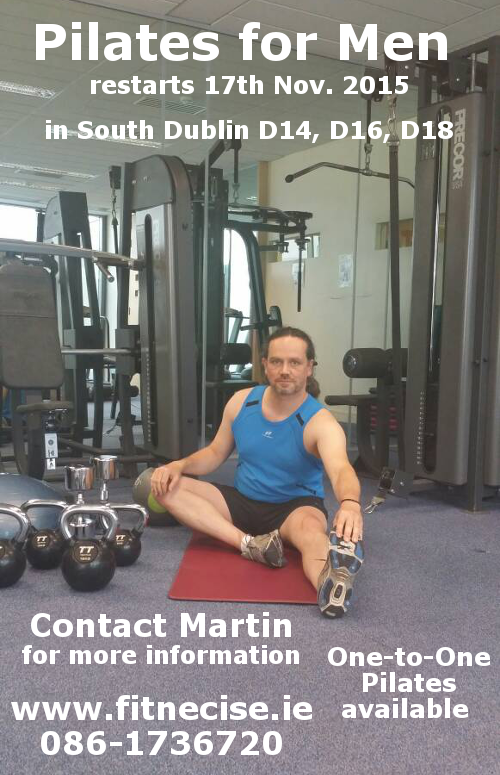Pilates for Men in south Dublin, Sandyford Leopardstown close to Foxrock Cabinteely Stepaside Kilternan Rathfarnham Balally